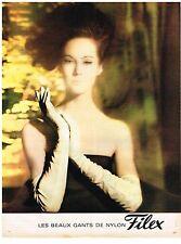 PUBLICITE ADVERTISING  1963   FILEX   les beaux gants nylon