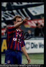 Mario Basler SUPER AK foto il Bayern Monaco 1996-97 (2) ORIG. firmato