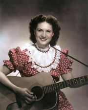 """KITTY WELLS 1954 COUNTRY WESTERN SINGER 8x10"""" HAND COLOR TINTED PHOTOGRAPH"""