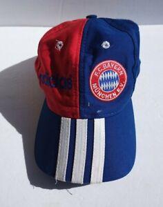 Vintage F.C. Bayern FC Hat Snapback Cap Mens Red Football Adidas Logo Snapback