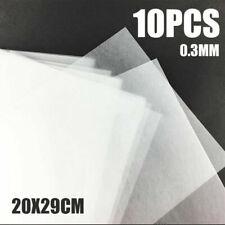 10x Schrumpffolie Papier Transparent Mattiert Für Schmuckherstellung DIY UV Harz