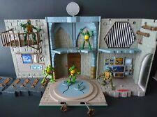 Teenage Mutant Ninja Turtles Lair Playset 2003 16'' TMNT Figures Playmates Toys-