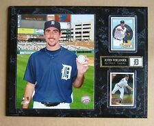 Justin Verlander  Detroit Tigers 1st No Hitter Photo Plaque w/ Game used Jersey