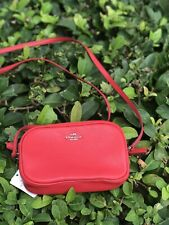 NWT Coach Pebbled Crossbody Bag in Bright Red F65988