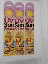 LOT of 3 PACKS of 5 UV SUN SENSE BRACELETS WRIST BANDS