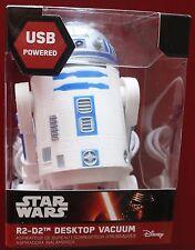 R2D2 OFFICIAL STAR WARS Desktop Desk Vac USB Desk Vacuum Cleaner Hoover Novelty
