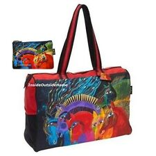 Laurel Burch Horses of Fire LARGE TRAVEL Tote Sport Tack + Makeup Bag New