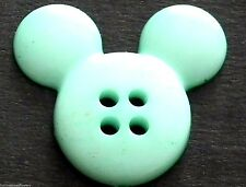 8 Big Baby Verde/Azul Turquesa las orejas de Mickey 4 botones de agujero 21 mm (9021).