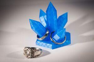 Bedside RING ORGANISER HOLDER Resin Crystal Mens Womens Jewellery Display Stand