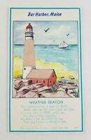Vintage 1950's? Bar Harbor Maine Lighthouse Hygroscope Card (Predicts Weather?)