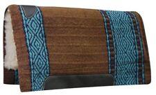 """36""""x34"""" TEAL/BROWN Western Cutter Style Pad w/ Kodel Fleece & Wear Leathers! NEW"""