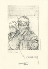 Ex-libris Offset Largo Winch A l'épee (crayonné)
