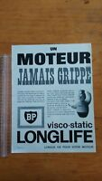 PUBLICITE ANCIENNE - PUB ADVERT - BP LONGLIFE - PARIS MATCH 1965