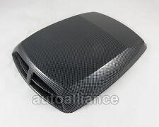Carbon Fiber Look Car Decorative Air Flow Intake Hood Scoop Vent Bonnet Cover