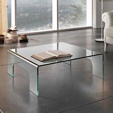 Tavolino in vetro curvo trasparente Dick soggiorno salotto