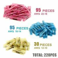 220PCS Assortment Heat Shrink Wire Connectors Waterproof Solder Sleeve Terminals
