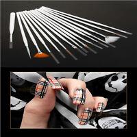 15Pcs Fingernail Popular Acrylic Nail Art Colored Drawing Pen Tips Tools kit