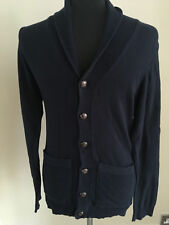 River Island Mens/Youth XXS Navy Blue 100% Cotton Cardigan - Good Condition
