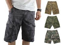 Wrangler Men's Cargo Shorts Pre-Shrunk Distressed Camouflage Multiple Pockets