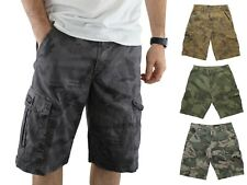 Wrangler Men's Cargo Shorts Pre-Shrunk Distressed Camouflage Multiple Pockets