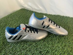Adidas Messi 16.4 FG Firm Ground UK 4 Eur 36.3 Boots Blue Sliver RARE