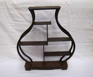 solid hardwood curio shelves snuff bottle Stand Shelf Handmade Carving Deco Art