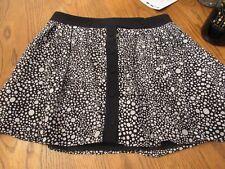 JONATHAN SAUNDERS, WOMEN'S Black/White Poly Above Knee Career Skirt, Size 5