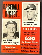 VINTAGE BASEBALL DIGEST TONY KUBEK APRIL 1961 VOL 20 NO 3