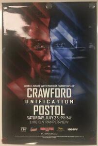 TERENCE CRAWFORD vs VIKTOR POSTOL Original 24x36 Onsite Boxing Fight Poster 2016