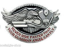 50er Rockabilly Buckle o. Biker,Rock`n Roll Gürtelschnalle Eagle Guardian Angel