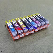 8 cartucho compatible, recargables con chips para Canon CLI-42 Pro 100 100s