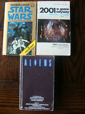 3 Paperbacks: Aliens, Star Wars, 2001 Space Odyssey - Science Fiction Set - Good