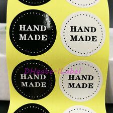 400pcs handmade sticker Black/white Hand Made For Gift Seal sticker