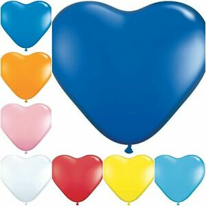 "24"" Giant Size Heart Shaped Balloon 2 Pcs for Multi-Purpose Occasions Decoration"
