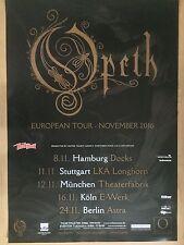 OPETH  2016  TOUR + orig.Concert Poster -- Konzert Plakat  A1 NEU