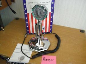 Superstar Super Star Silver Salute CB Radio Desk Amplified Microphone Box Ranger