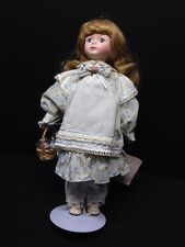Treasures In Lace Porcelain Doll 14""
