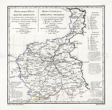 MAP 1935 POLISH MILITARY Kalisz WrocLaw AREA POLAND REPLICA POSTER PRINT PAM0494