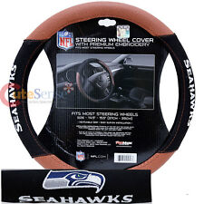 Seattle Seahawks Steering Wheel Cover NFL Auto Accesories Football Grip