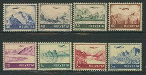 Switzerland 1941 Airmail set Sc# C27-34 NH