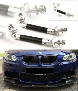 Carbon Bumper Lip Diffuser Rod Splitter Strut Tie Bars Stable For Subaru Mazda