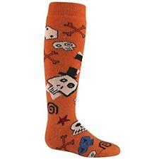 Wigwam F2102 Snow Skully Orange Ski Boot Wool Sock YX Youth 1.5-5 Women 4-7