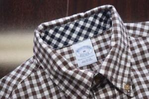 Brooks Brothers Dress Shirt Plaid Long Sleeve Button Up Mens Size Medium