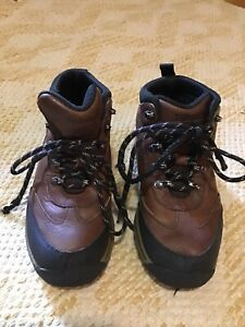 Timberland Brown Leather Boys/Kids/Youth Hiking Camping Boots 22713 Size 12.5