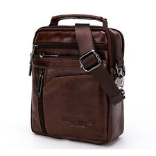Men Genuine Leather Shoulder Bag Gents Messenger Satchel Business Tote Handbag