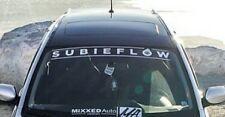 Subaru Subieflow Windshield Decals Banners Cars Stickers ej20 WRX STI BRZ Turbo