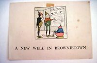 "Vintage Storyboard ""A New Well In Brownietown"" w/ 6 Colored Pages *"