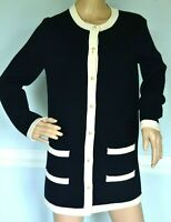 New Tory Burch Kendra Pearl Button Navy Blue Dress Long Sweater Coat 2 4 / SMALL