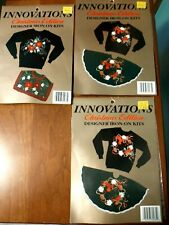 New listing Set of 3 Iron-On Innovations Applique' Kit Christmas Edition Birds Flowers