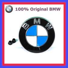 100% originale BMW Emblema di hood Stemma Cofano 82mm Serie 5 Serie 6 7 X 3 X 5